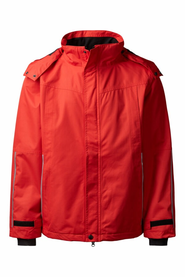 99045-4 xplor zip-in skaljakke unisex rød 4000 front