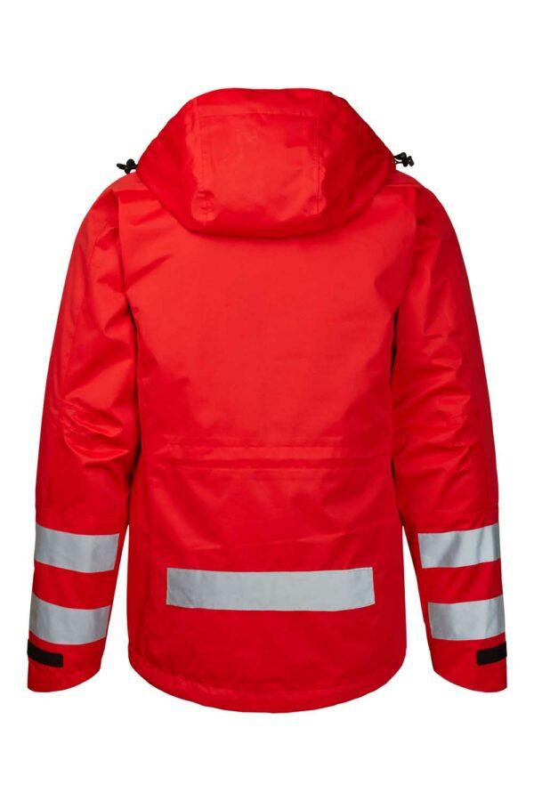 40101-4 xplor zip-in skaljakke med reflekser unisex rød 4000 bag