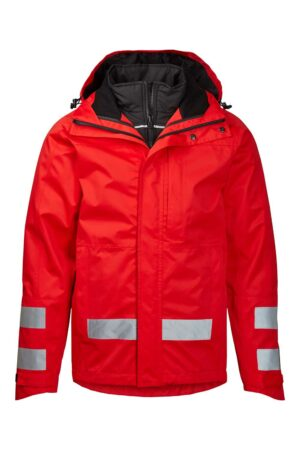 40101-4 xplor zip-in skaljakke med reflekser unisex rød 4000 front