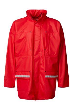 99190 xplor regnjakke unisex rød 4000 front