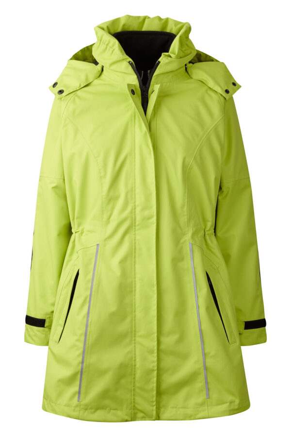 99044-4 Xplor zip-in skaljakke dame lime front